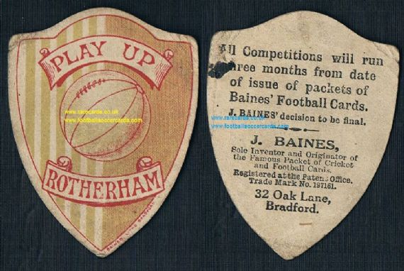 1910s Rotherham Town United Baines shield